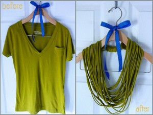 DIY Recycled T-shirt Nacklace