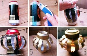 DIY Recycled Tin Can Candle Holder