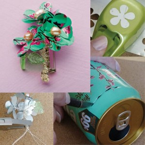 DIY Recycled Tin Can Jewelry