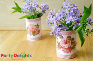 DIY Recycling Tin Cans Decorations