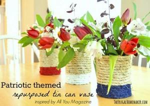DIY Repurposed Tin Cans Flower Vase