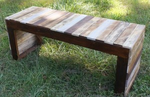 DIY wooden bench table
