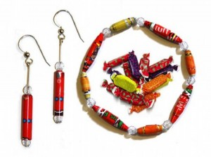 Halloween Candy Wrapper Jewelry