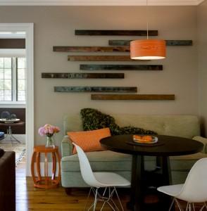 Reclaimed Wooden Pallet Wall Art Idea