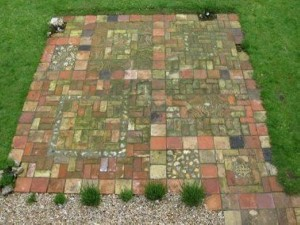 Recycled Awesome Brick Patio