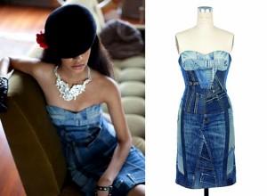 Recycled Blue Denim Jeans Innovative Dress