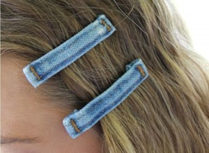 Recycled Blue Jeans into Pins