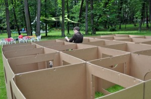 Recycled Cardboard Boxes Kids Playground
