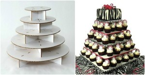 Recycled Cardboard Cake Stand for Wedding Decor