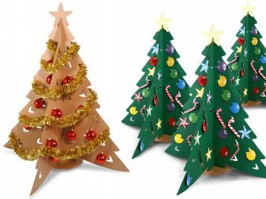 Recycled Cardboard Christmas Tree Idea