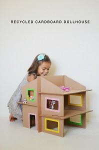 Recycled Cardboard Doll House Toy