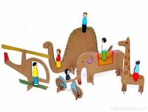 Recycled Cardboard Kid Toys