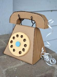 Recycled Cardboard Kids Telephone