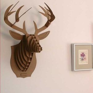 Recycled Cardboard Wall Decor Idea