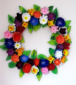 Recycled Egg Carton Beautiful Wreath
