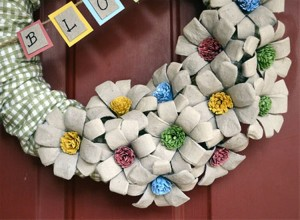 Recycled Egg Carton Craft Wreath