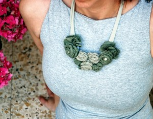 Recycled Fabrics Jewelry Necklace