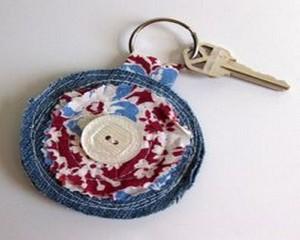 Recycled Fabrics Key Ring