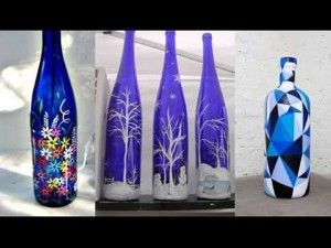 Recycled Glass Bottles Decorating