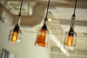 Recycled Glass Bottles Light Blubs