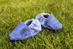 Recycled Jeans Stylish Baby Shoes