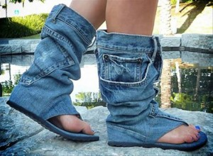 Recycled Jeans Stylish Sandals