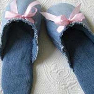 Recycled Jeans Stylish Shoe