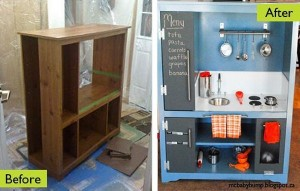 Recycled Kids Play Kitchen