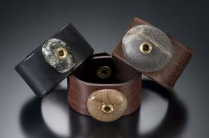 Recycled Leather Belt into Jewelry Bracelet
