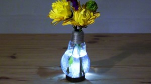 Recycled Light Bulb into Flower Vase