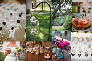 Recycled Mason Jars Wedding Decor