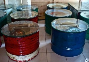 Recycled Metal Drums Table Furniture
