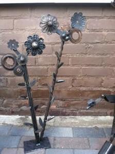 Recycled Metal Flowers