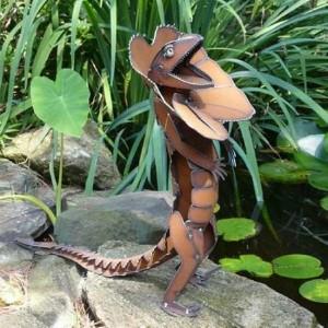 Recycled Metal Lizard for Garden Decor