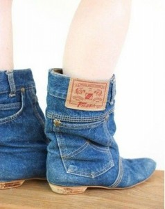 Recycled Old Pair Jeans Stylish Shoes