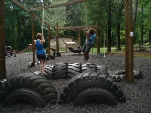 Recycled Old Tires Playground for Child