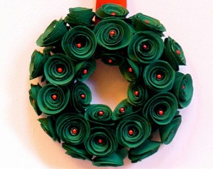 Recycled Paper Green Wreath