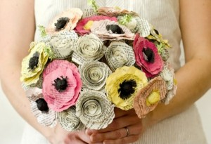 Recycled Paper Wedding Flowers