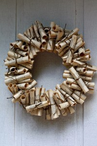 Recycled Paper Wreath