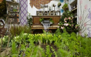 Recycled Piano Fountain