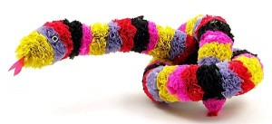 Recycled Plastic Bags Snake Toy