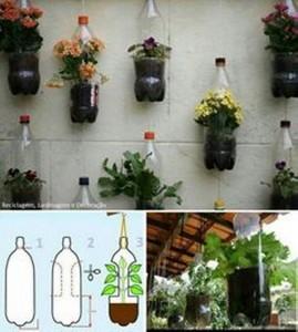 Recycled Plastic Bottles Gardening