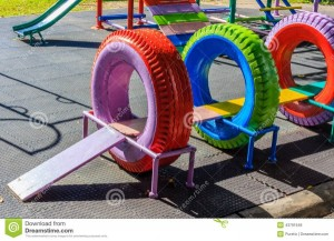 Recycled Playground Made from Old Tires