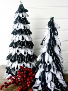 Recycled Ribbon Christmas Tree