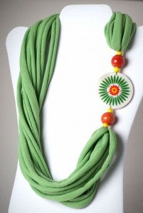 Recycled T-shirt Innovative Nacklace
