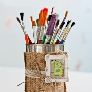 Recycled Tin Can Holder