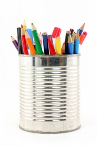 Recycled Tin Can Pen Holder