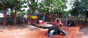 Recycled Tires Kids Playground