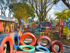 Recycled Tires Playground for Toddlers