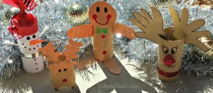 Recycled Toilet Paper Rolls Christmas Decorations
